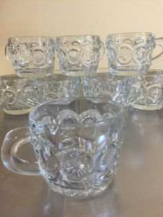 Moon and Stars Punch Cups  Tiffin-Franciscan by PineStreetPickers