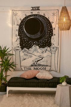 Tarot-Wandteppich Tarot Tapestry – The post Tarot tapestry appeared first on Dekoration. Cute Dorm Rooms, Cool Rooms, The Moon Tarot Card, Diy Home Decor Rustic, Boho Decor, Farmhouse Decor, Home Decor Bedroom, Bedroom Ideas, Modern Bedroom