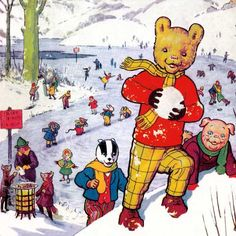 Rupert Bear 1951 - loved these rhyming stories  My favourite book as a child