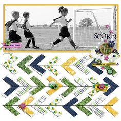 Digital Scrapbooking Kit -YOUR BIGGEST FAN Page Kit | ForeverJoy Designs