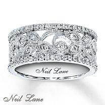 3/4 ct tw Diamond Ring Round-Cut 14K White Gold. By Neil Lane At Jareds