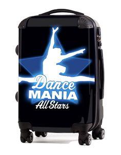 "Custom Cheer Luggage - Dance Mania Allstars 20"" Carry-On Luggage, $149.95 (http://www.cheerluggage.com/dance-mania-allstars-20-carry-on-luggage/)"
