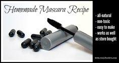 ∆ Mascara...Homemade Mascara Recipe...Ingredients:       1 tsp coconut oil     1 tsp shea butter;     1 1/2 tsp beeswax;     2 tsp jojoba oi;     2 capsules activated charcoal;     2 drops Vitamin E oil    | Real Food RN