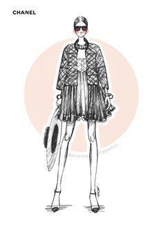 Image result for chanel fashion illustration