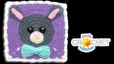Bunny Rabbit Blanket Square - Crochet Motif - April