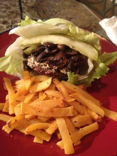 Lettuce Wrapped Beef Burger w/ Rutabaga Fries - Ideal Protein...substitute low-sodium, gluten free tamari sauce instead of soy sauce for phase 1 compatibility.