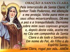 Santa Clara de Assis (em italiano, Santa Chiara d'Assisi) nascida como Chiara d'Offreducci em Assis (Itália), no dia 16 de Julho de 1194, e falecida em ...