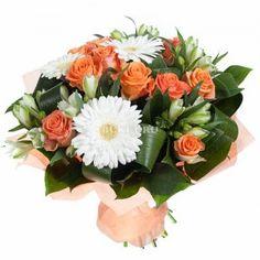 Букет из роз и гербер «Укрощение строптивой»