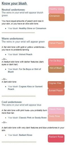 This is a great way to figure out whether you have neutral, warm or cool undertones and also to figure out which blush is most flattering on you! Been needing to figure that out for a while now! Neutral Skin Tone, Cool Skin Tone, All Things Beauty, Beauty Make Up, Hair Beauty, Beauty Tips, Beauty Stuff, Beauty Secrets, Blush Makeup