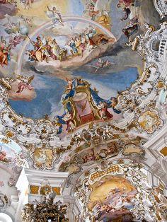 Wies Church, Bavaria // Architect: Dominikus Zimmermann // Photo: Flickr user newlune