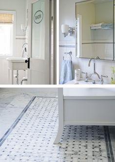Rambling Renovators: House Tour  / alternative bathroom door