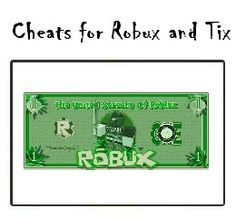 Roblox Cheats for Robux and Tix     http://cheatsandhacks.net/