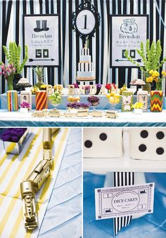 Korean+First+Birthday+Party:+Elegant+Monopoly+Theme