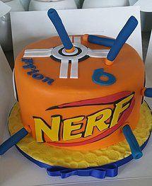 Nerf Birthday Party, Nerf Party, Little Boy Cakes, Cakes For Boys, Nerf Gun Cake, Gun Cakes, Jake Cake, Cake Boss, Fancy Cakes