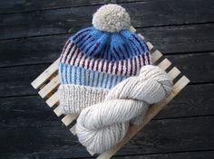 Bobble Cap Pom Pom Alpaca Hat Jaquard pattern von amjasnet auf Etsy
