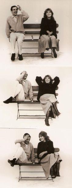Jeanne Moreau and François Truffaut on the set of Jules et Jim (1962)