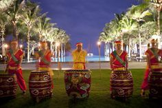 #weddingdesign #vietnambeachweddings #hoianeventsweddings #beachwedding #destinationwedding #drummers #vietnamesemusic #weddingentertainment