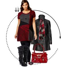 Plus Size - Black and Red