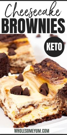 Keto Cheesecake Brownies Recipe - With this easy keto cheesecake brownies recipe you get the best of both worlds with net carbs! Low carb brownie cheesecake bars are fudgy rich creamy and chocolate-y.