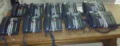 Lot of 10 Nortel Networks Bellsouth T7316 (2) & T7208 (8) Charcoal Phones #NORTELNETWORKS