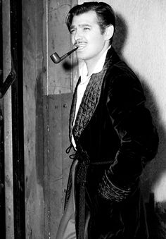 Smoking Jacket!! Clark Gable on the set of Gone with the Wind (1939)