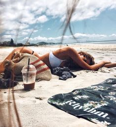 Napping on the beach - sun sand surf
