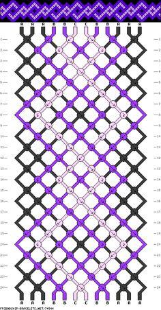 Muster # 74544, Streicher: 12 Zeilen: 24 Farben: 3