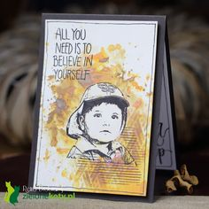 mixed media card, Distress Oxide Inks, stamps, Art Journey boy