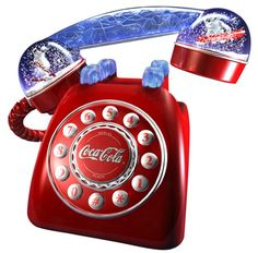 This Coca Cola phone features Polar Bear snow domes on the handset, additional every-day-type handset included, ringer light on both receiver and micro phone positions, demo light when handset is lifted, stop when handset is down. Coca Cola Kitchen, Cocoa Cola, Coca Cola Polar Bear, Vintage Coke, Vintage Menu, Always Coca Cola, World Of Coca Cola, Pepsi Cola, Sodas