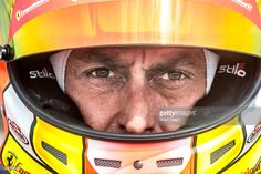 Olivier Beretta, of Monte Carlo, prepares to drive in the Pirelli World Challenge GT race at Mazda Raceway Laguna Seca on September 13, 2015 in Monterey, California.