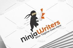 Ninja Writers | Logo Template by REDVY on @creativemarket