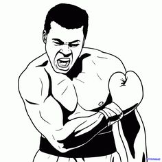 how to draw muhammad ali step 16 Muhammad Ali, Airplane Drawing, Comic Book Style, African American Artist, Black Artwork, Cool Art Drawings, Calligraphy Drawing, Float Like A Butterfly, Doodle Tattoo