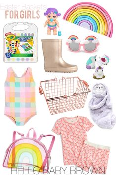 Little girls easter basket ideas toddler easter basket spring easter basket guide for little girls by hello baby brown negle Choice Image
