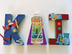 3D Personalised Name Signs - Boys Names - 3 Letters | The Crafters' Barn