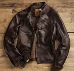 Schott X Restoration Hardware Leather Jacket