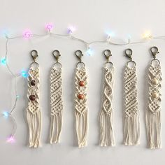 100 cotton handmade macrame keychain each keychain will Each keychain will vary slightly in size measuring between inches. Macrame Design, Macrame Art, Macrame Projects, Macrame Knots, Macrame Jewelry, Macrame Bracelets, Diy Jewelry, Art Macramé, Micro Macramé
