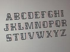 Alphabet by Paulius Kairevičius Alphabet In Different Fonts, Cool Fonts Alphabet, Lettering Styles Alphabet, Different Lettering Styles, Handwriting Alphabet, Typography Alphabet, Cool Lettering, Graffiti Lettering, Block Lettering