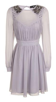 #Lavender #beaded #dress