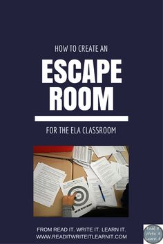 Have you heard of escape rooms in the classroom, but you're unsure exactly how to set one up?  This blog post includes everything you would need to know to create your own escape room for the ELA classroom, including step by step picture guide to how I set up an escape room in my 7th grade classroom.    For more interactive and engaging ideas for the secondary ELA classroom, check out www.readitwriteitlearnit.com