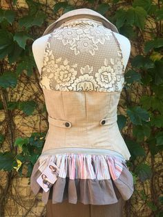 Steampunk Bustle Vest Historical Victorian Festival Fashion