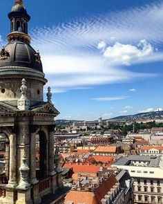Budapest. View from the St Stephen Basilica. The biggest basilica of the city was built between 1851 and 1905. From the dome you can enjoy a beautiful panorama of Budapest. Seeing a city from above always excites me. Anyone else has the same feeling? Comment if you, too.  #view #budapest #hungary #saintstephensbasilica #tour #privatetour #privateguide #magdiprivatetours #igtravel #igdaily #instatravel #budapest_hungary #_Wonderful_Earth