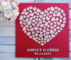 3D Gästebuch Hochzeit Gast Buch von MelindaWeddingDesign auf Etsy