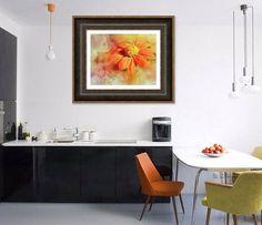 Downloadable Photo, Orange Flower Print.