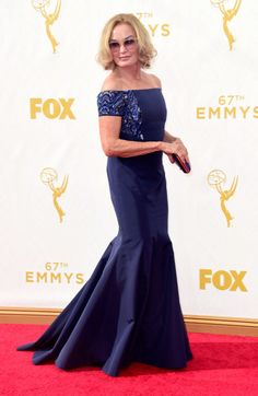 Jessica Lange in Jimmy Choo shoes at the 2015 Emmys. See what all the stars wore to the ceremony.