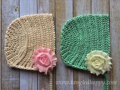 Ribbed Baby Bonnet Cap