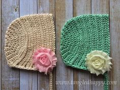Ribbed Baby Bonnet Cap