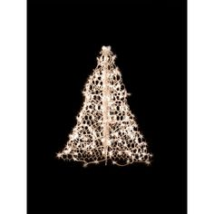 indooroutdoor pre lit incandescent artificial christmas tree with white frame - Christmas Tree Pathway Lights