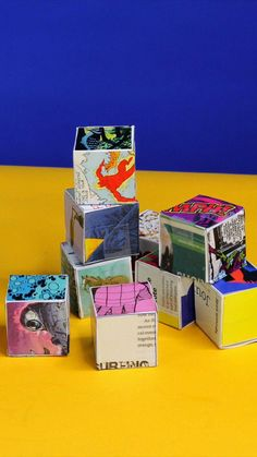 Take magazine collage art into 3 dimensions with our Collage Cube project based on the work of artist Corita Kent. Creative Activities For Kids, Creative Crafts, Creative Kids, School Art Projects, Fun Projects, 3d Collage, Old Greeting Cards, Magazine Collage, Steam Activities