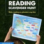Free Printable: Reading Scavenger Hunt - a reading record that doesn't focus on the number of minutes read ... LOVE!