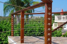 Our RailEasy™ collection features stainless steel cable railing systems that can be used indoors and outdoors. It features modern design & is easy to install. Outdoor Stair Railing, Deck Railing Design, Wood Railing, Deck Railings, Deck Design, Iron Railings, Roof Deck, Garden Design, Stainless Steel Cable Railing